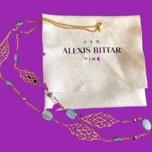 Alexis Bittar Long Gold Tone Necklace w/ Flaws